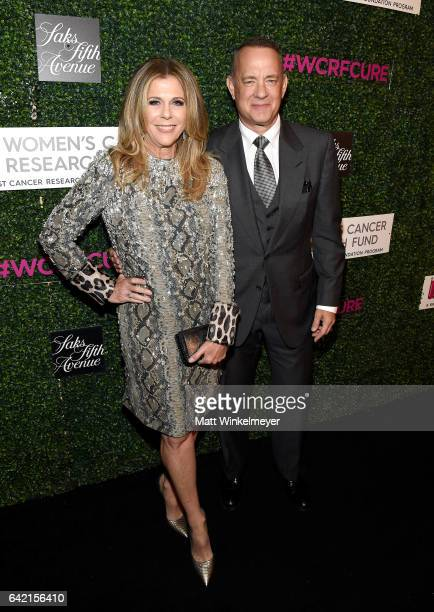 Honorary CoChairs Rita Wilson and Tom Hanks attend WCRF's An Unforgettable Evening presented by Saks Fifth Avenue at the Beverly Wilshire Four...