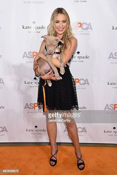 Honorary committee member actress Katrina Bowden attends the ASPCA Young Friends benefit at IAC Building on October 15 2015 in New York City