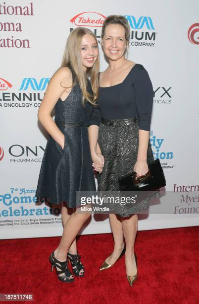 Honorary Committee member Monica Rosenthal and Lily Rosenthal attend the International Myeloma Foundation's 7th Annual Comedy Celebration Benefiting...