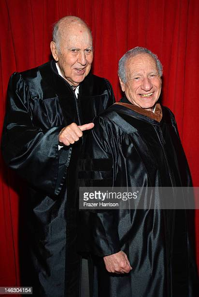 AFI Honorary degree recipient Mel Brooks with filmmaker Carl Reiner at the 2012 AFI Conservatory Commencement Ceremony at Grauman's Chinese Theatre...