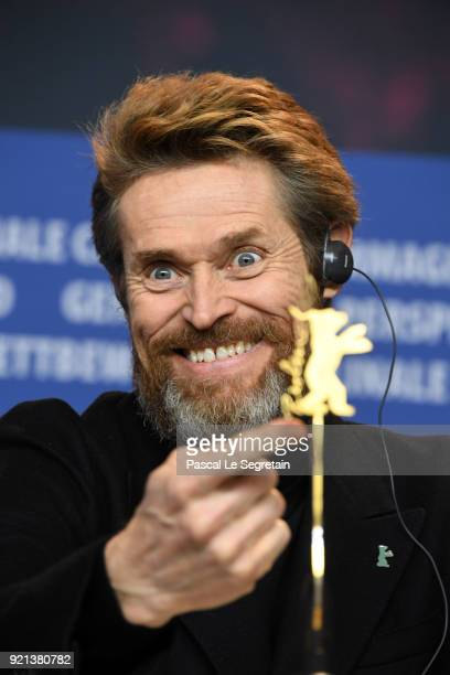 Honorary Golden Bear Winner Willem Dafoe attends the Homage Willem Dafoe press conference during the 68th Berlinale International Film Festival...