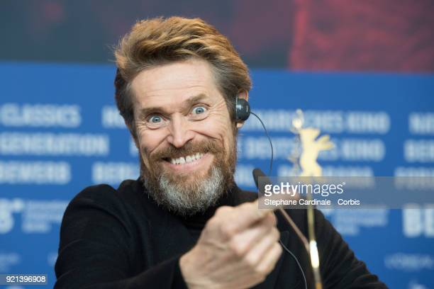 Honorary Golden Bear Winner Willem Dafoe attends the Hommage Willem Dafoe press conference during the 68th Berlinale International Film Festival...