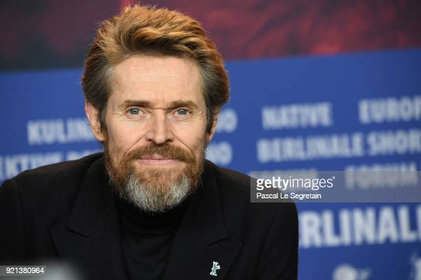 Honorary Golden Bear Winner Willem Dafoe is seen at the Homage Willem Dafoe press conference during the 68th Berlinale International Film Festival...