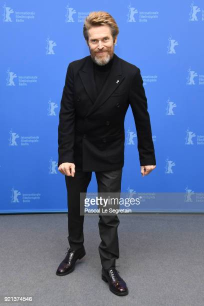 Honorary Golden Bear Winner Willem Dafoe poses at the Homage Willem Dafoe photo call during the 68th Berlinale International Film Festival Berlin at...