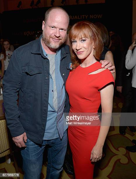 Honorary Host Committee Member Joss Whedon and actress Kathy Griffin attend Equality Now's third annual 'Make Equality Reality' Gala on December 5...