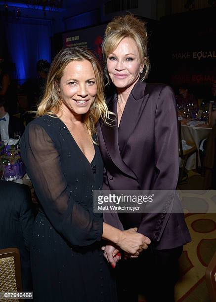 Honorary Host Committee Member Maria Bello and actress Melanie Griffith attend Equality Now's third annual 'Make Equality Reality' Gala on December 5...