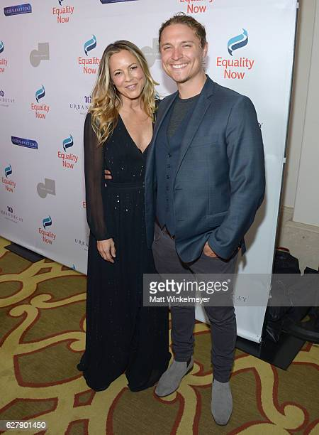 Honorary Host Committee Member Maria Bello and Elijah AllanBlitz attend Equality Now's third annual Make Equality Reality gala on December 5 2016 in...