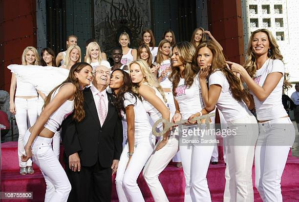 Honorary Mayor Johnny Grant with the Victoria's Secret Models Izabel Goulart Selita Ebanks Karolina Kurkova Alessandra Ambrosio Adriana Lima and...