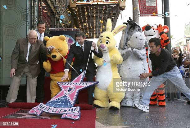 Honorary Mayor of Hollywood Johnny Grant Robert Iger President and Chief Executive Officer The Walt Disney Company Winnie The Pooh Leron Gubler...