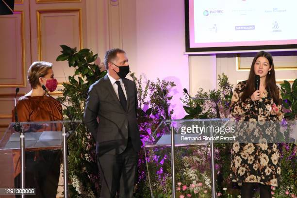 Honorary President Grand Duchess Maria Teresa of Luxembourg, Professor Philippe Juvin and Laureate : Student and citizen support at Henri Mondor...