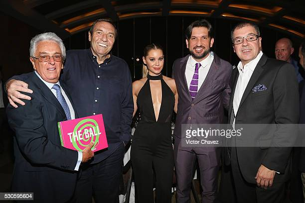 Honorary president mexican football federation FMF Justino Compean CEO Soccerex Duncan Revie Veronica Rodriguez Kiki Fonseca Global W Mexico Paco de...