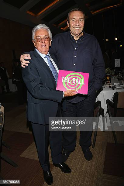 Honorary president mexican football federation FMF Justino Compean and CEO Soccerex Duncan Revie attend the Soccerex Americas Forum VIP dinner at...