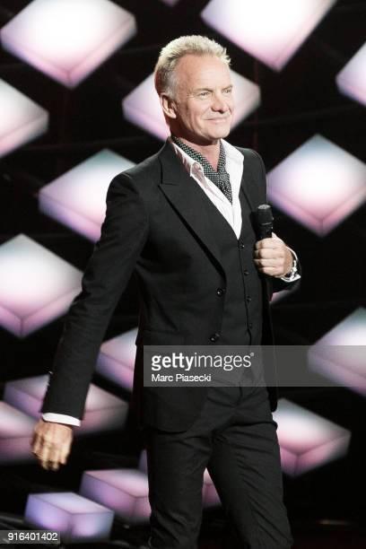 Honorary President of the 33rd Victoires de la Musique 2018 singer Sting attends the 33rd Victoires de la Musique 2018 at La Seine Musicale on...