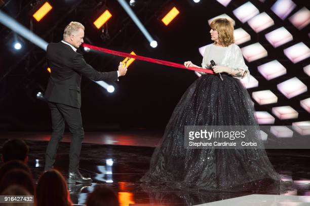Honorary President of the 33rd Victoires de la Musique 2018 singer Sting and Daphne Burki attend the 33rd 'Les Victoires De La Musique' at La Seine...
