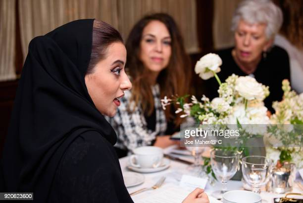 Honorary President of the Arab Council H H Princess Noura Bint Faisal Al Saud attends the Arab Fashion Council Breakfast during London Fashion Week...