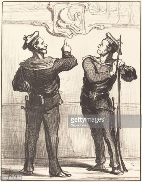 Honore Daumier, , French, 1808 - 1879, Nous ne nous serions jamais doute tout de meme..., Actualites, lithograph.