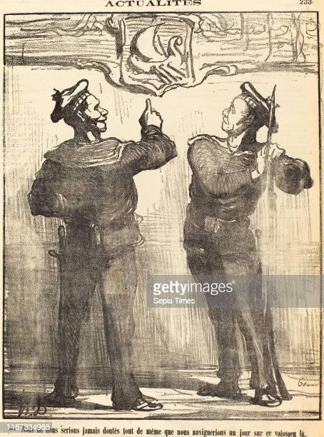 Honore Daumier , Nous ne nous serions jamais doute tout de meme gillotype on newsprint.