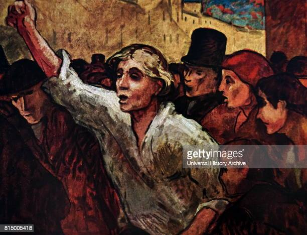 Honore Daumier the Uprising The Revolt 1848 Oil on canvas
