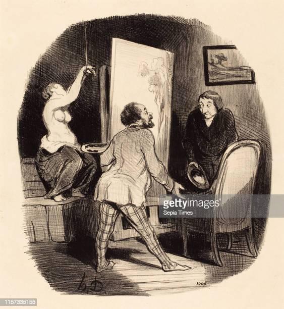 Honore Daumier Une Position difficile lithograph
