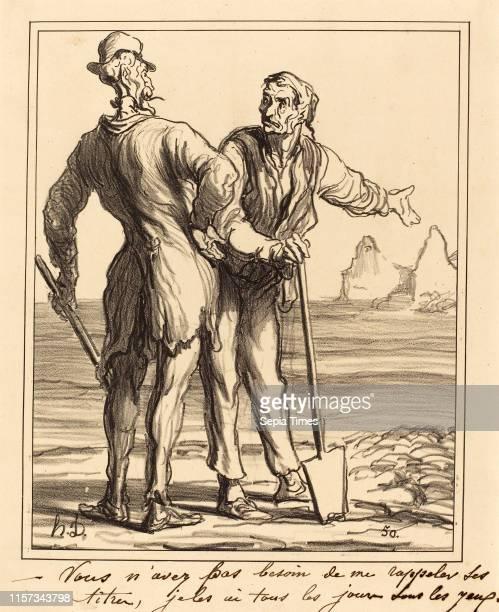 Honore Daumier , Vous n'avez pas besoin de me rappeler ses titres lithograph.