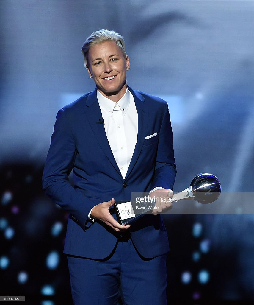 Honoree Abby Wambach accepts the Icon Award onstage during the 2016 ESPYS at Microsoft Theater on July 13, 2016 in Los Angeles, California.