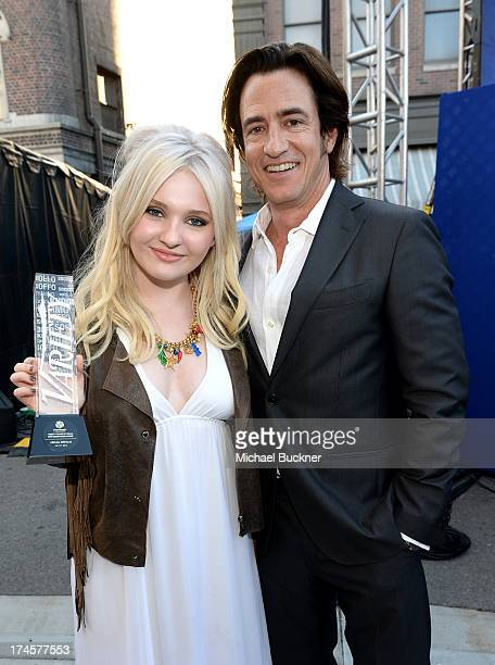 Honoree Abigail Breslin and actor Dermot Mulroney attend Variety's Power of Youth presented by Hasbro Inc and generationOn at Universal Studios...
