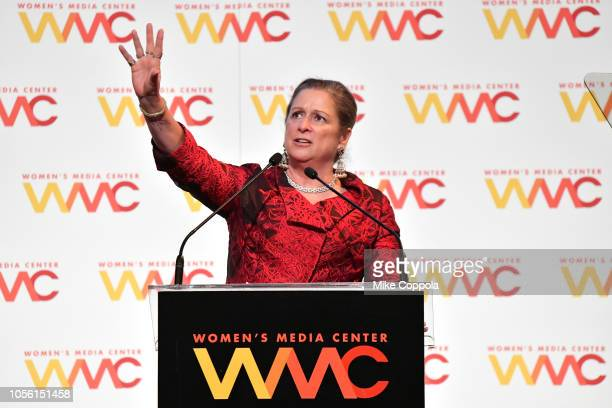 Honoree Abigail Disney speaks onstage during the 2018 Women's Media Awards at Capitale on November 1 2018 in New York City