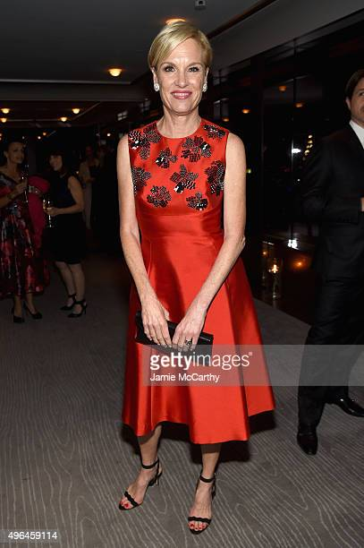 Honoree activist Cecile Richards attends the 2015 Glamour Women of The Year Awards dinner hosted by Cindi Leive at The Rainbow Room on November 9...
