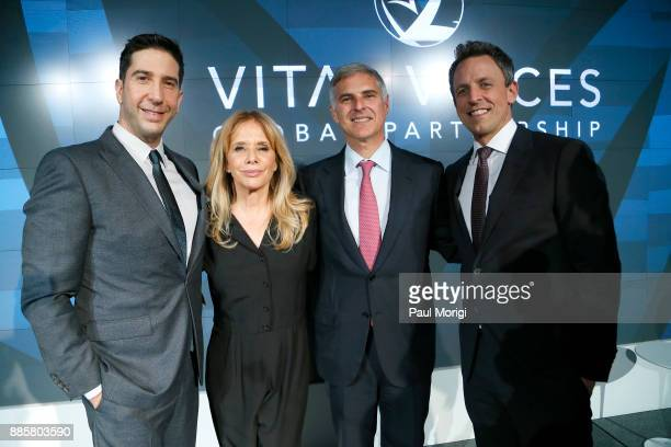 Honoree Actor and Director David Schwimmer Presenter Actor Activist Rosanna Arquette Honoree President and CEO Hilton Christopher Nassetta and...