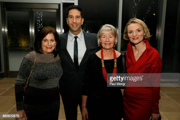 Honoree Actor and Director David Schwimmer Sonnie Dockser and Presenter President and CEO Vital Voices Global Partnership Alyse Nelson pose for a...