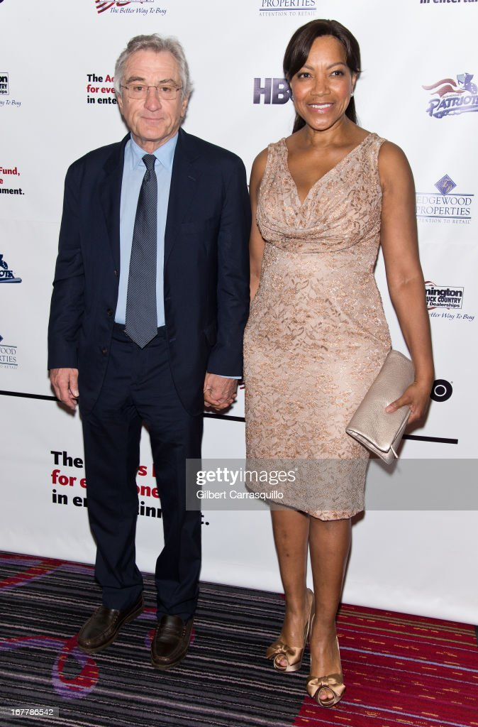 Honoree, actor Robert De Niro and wife Grace Hightower attend the 2013 Actors Fund's Annual Gala Honoring Robert De Niro at The New York Marriott Marquis on April 29, 2013 in New York City.