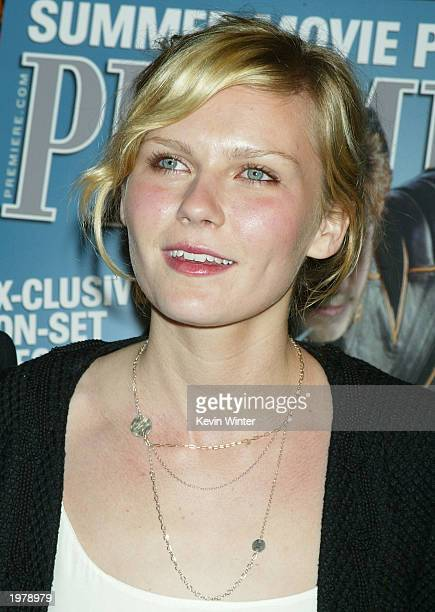 Honoree actress Kirsten Dunst arrives at Premiere Magazine's 'The New Power' celebrating Hollywood power players under 35 at Ivar on May 6 2003 in...
