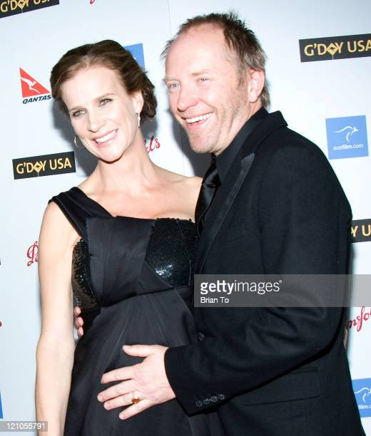 Honoree actress Rachel Griffiths and husband Andrew Taylor arrive at Australia Week 2009 Black Tie Gala Arrivals at Hollywood Highland Grand Ballroom...