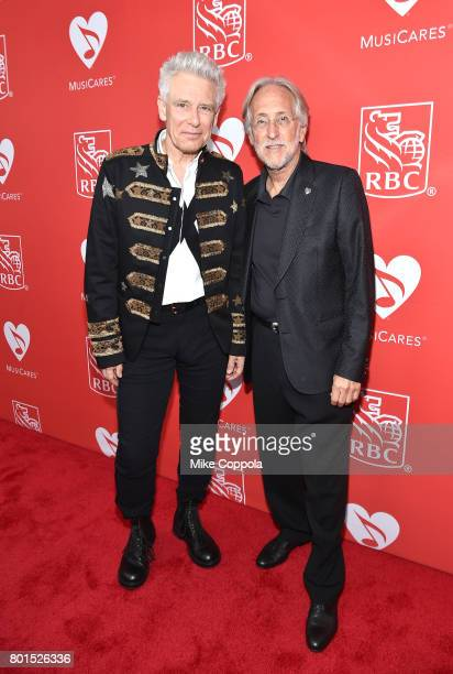 Honoree Adam Clayton of U2 and President/CEO of The Recording Academy and MusicCares Neil Portnow at the 13th Annual MusiCares MAP Fund Benefit...