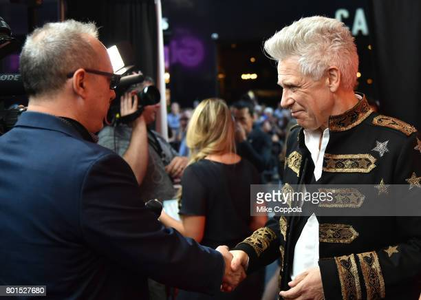 Honoree Adam Clayton of U2 greets guests at the 13th Annual MusiCares MAP Fund Benefit Concert at the PlayStation Theater on June 26 2017 in New York...