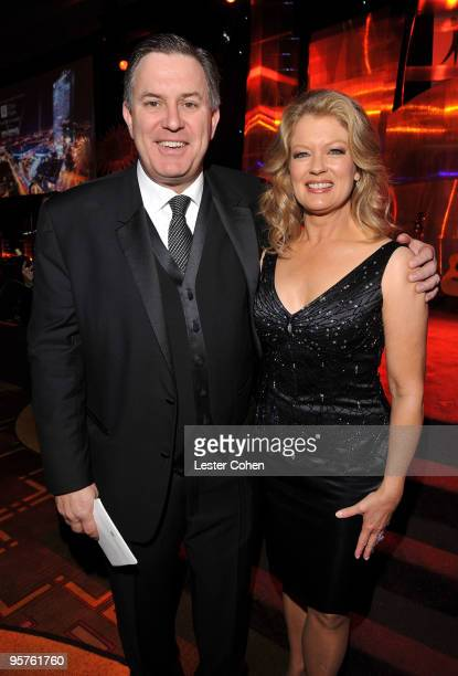 Honoree AEG President and CEO Tim Leiweke and TV Personality Mary Hart attend City Of Hope's Spirit Of Life Award Dinner Gala held at Diamond...