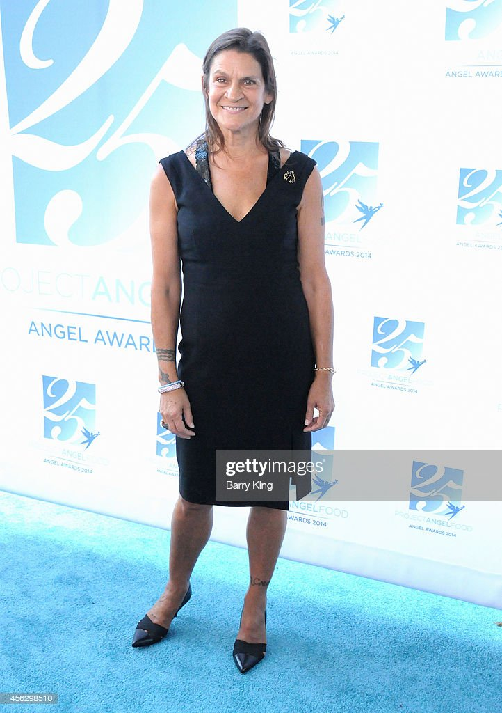 Honoree Aileen Getty arrives for Project Angel Food Celebrates 25 Years With 2014 Angel Awards at Project Angel Food on September 6, 2014 in Los Angeles, California.