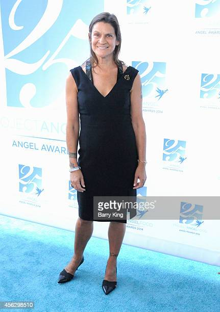 Honoree Aileen Getty arrives for Project Angel Food Celebrates 25 Years With 2014 Angel Awards at Project Angel Food on September 6 2014 in Los...