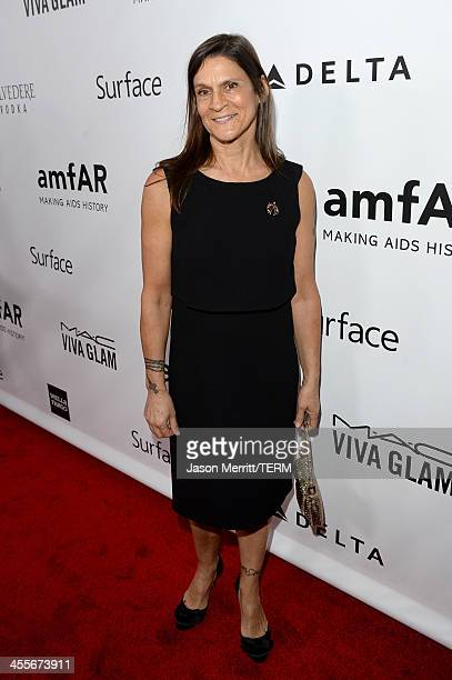 Honoree Aileen Getty attends the 2013 amfAR Inspiration Gala Los Angeles at Milk Studios on December 12 2013 in Los Angeles California