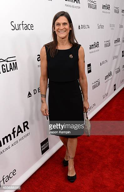 Honoree Aileen Getty attends the 2013 amfAR Inspiration Gala Los Angeles presented by MAC Viva Glam at Milk Studios on December 12 2013 in Los...