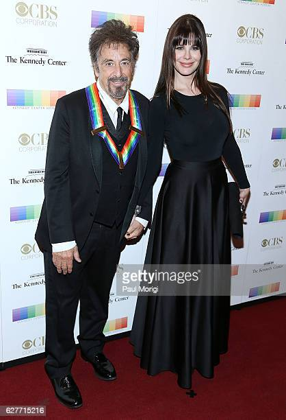 Honoree Al Pacino and Lucila Sola pose for a photo on the red carpet at the 39th Annual Kennedy Center Honors at The Kennedy Center on December 4...