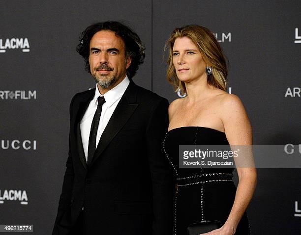 Honoree Alejandro Gonzalez Iñárritu and Maria Eladia Hagerman attend the LACMA Art Film Gala honoring Alejandro G Iñárritu and James Turrell and...