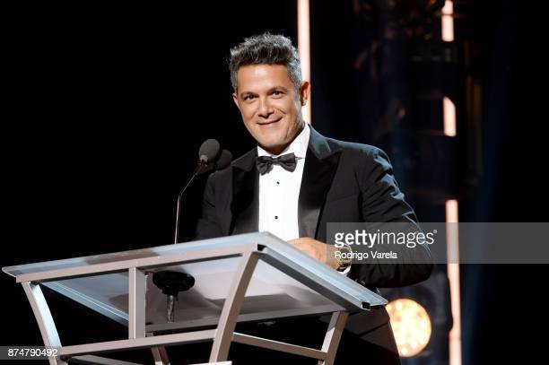 Honoree Alejandro Sanz accepts the Person of the Year Award onstage at the 2017 Person of the Year Gala honoring Alejandro Sanz at the Mandalay Bay...