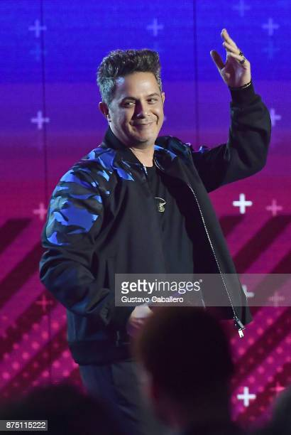 Honoree Alejandro Sanz accepts the Person of the Year award onstage during The 18th Annual Latin Grammy Awards at MGM Grand Garden Arena on November...