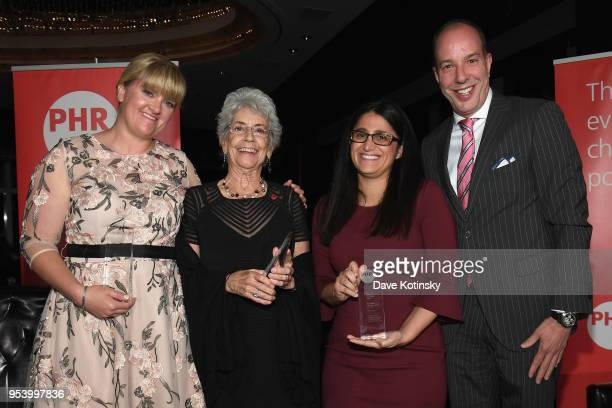 Honoree Alex Wubbels RN Dr Norma Price Dr Mona HannaAttisha and American Civil Liberties Union Executive Director Anthony D Romero pose onstage at...