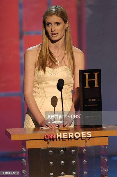 Honoree Alexandra Reeve during CNN Heroes An AllStar Tribute a live global broadcast honoring everyday heroes at the American Museum of Natural...