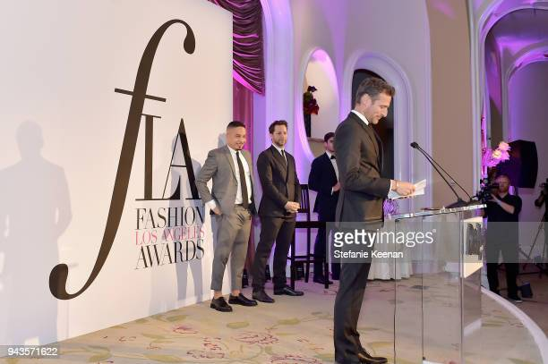 Honoree Alexi Lubomirski accepts the Photographer of the Year award onstage during The Daily Front Row's 4th Annual Fashion Los Angeles Awards at...