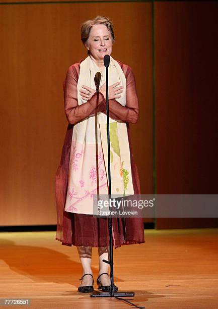 Honoree Alice Waters on stage during the 2007 Glamour Women of The Year award ceremony at Lincoln Center on November 5 2007 in New York City