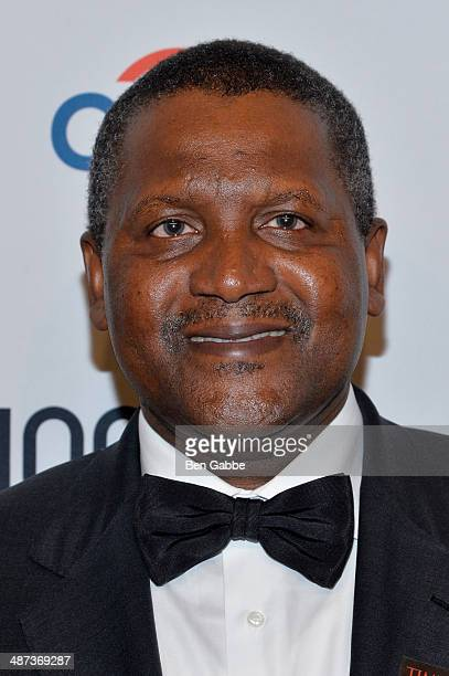 Honoree Aliko Dangote attends the TIME 100 Gala TIME's 100 most influential people in the world at Jazz at Lincoln Center on April 29 2014 in New...