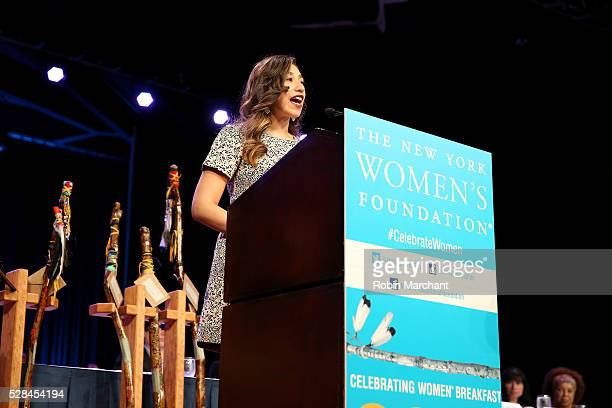Honoree Amanda Mato speaks on stage during The New York Women's Foundation's 2016 celebration womens breakfast on May 5 2016 in New York City